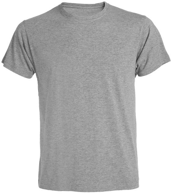 Pánské tričko bez potisku šedé - pepř a sůl