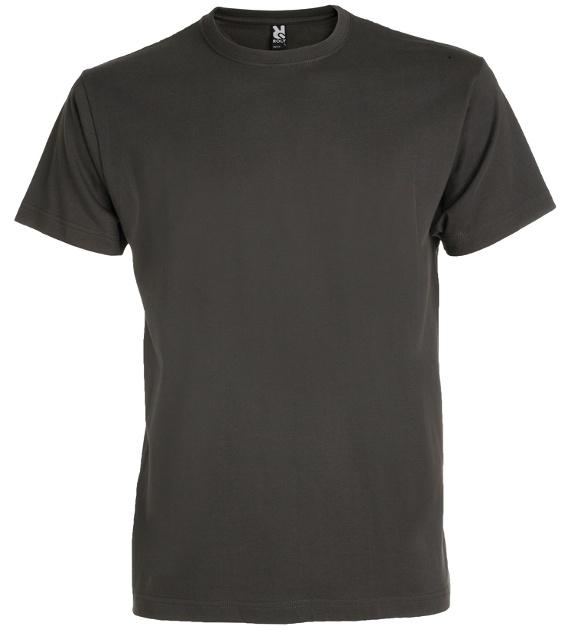 Pánské tričko bez potisku Tmavě šedé