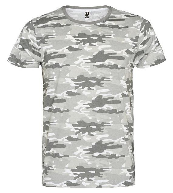 Pánské tričko Maskáč - maskáčové šedé