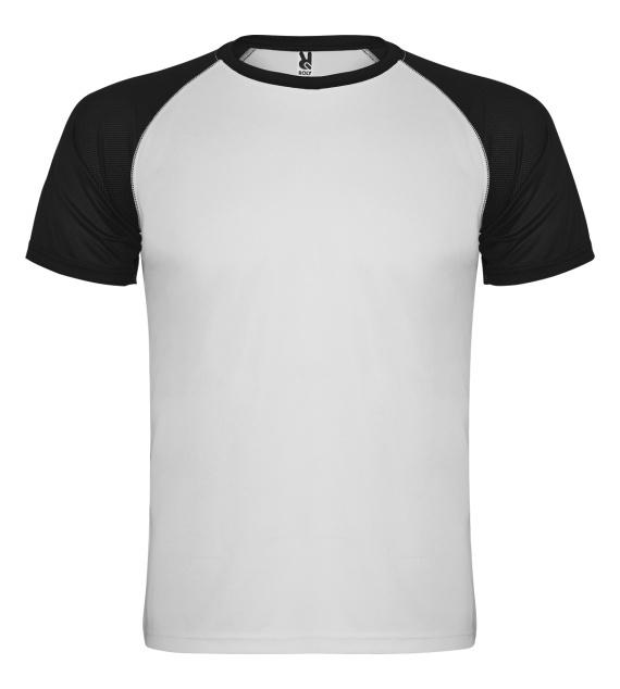 Pánské tričko bez potisku Bíločerné