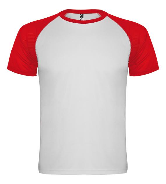 Pánské tričko bez potisku Bíločervené
