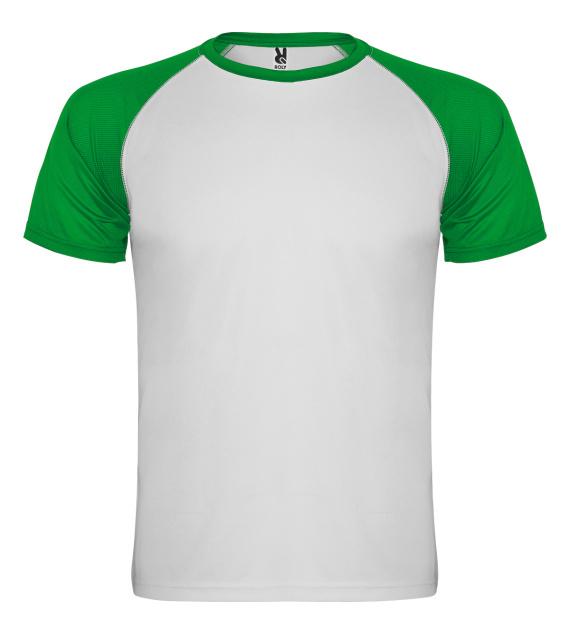Pánské tričko bez potisku Bílozelené