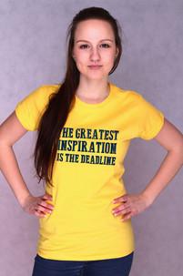 Dámské tričko s potiskem - Deadline