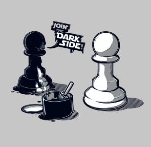 Dámské tričko s potiskem -Join The dark side