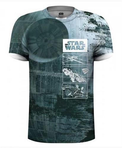 Pánské tričko Star Wars/Hvězdné války Death Star (L)