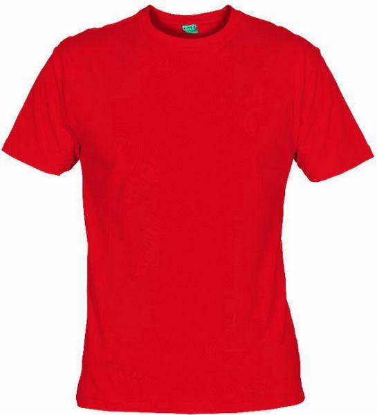 Pánské tričko bez potisku červené 5+1