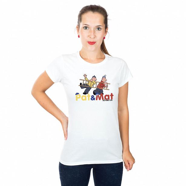 Dámské tričko s potiskem Pat a Mat