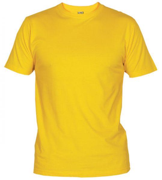 Pánské tričko bez potisku žluté